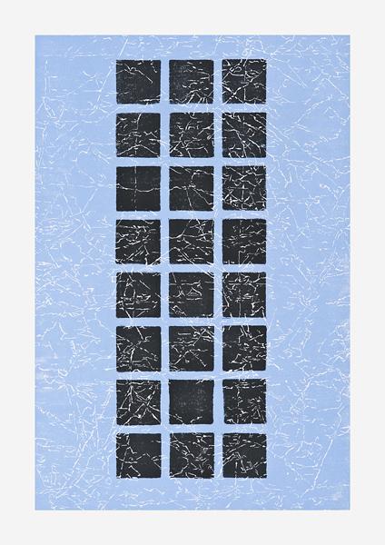 Blue Black Grid II